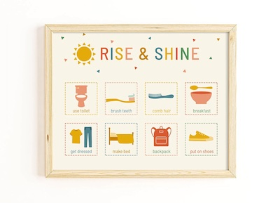 rise and shine routine chart